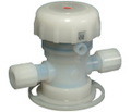 "Chemical Valve, Air-Operated, PFA, 3/4"" 2-way"